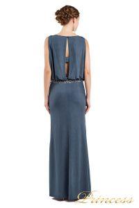 Вечернее платье 1144 dark grey. Цвет стальной. Вид 3