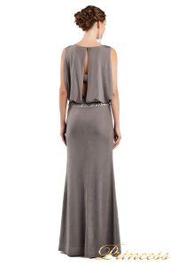 Вечернее платье 1144 dark khika. Цвет стальной. Вид 3