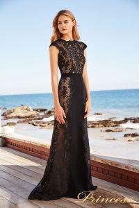 Вечернее платье BBU18450L bk nd. Цвет чёрный. Вид 4