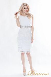 Коктейльное платье 1147-white. Цвет белый. Вид 3