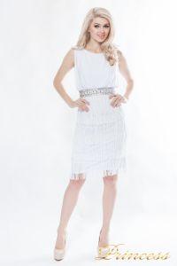 Коктейльное платье 1147-white. Цвет белый. Вид 4