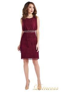 Коктейльное платье 1147 marsala . Цвет wine. Вид 2