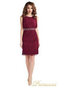 Коктейльное платье 1147 marsala . Цвет wine. Вид 1