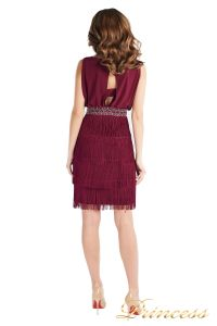 Коктейльное платье 1147 marsala . Цвет wine. Вид 3