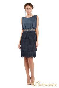 Коктейльное платье 1147 dark gray. Цвет стальной. Вид 2