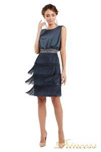Коктейльное платье 1147 dark gray. Цвет стальной. Вид 1