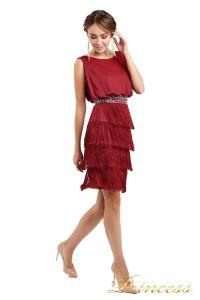 Коктейльное платье 1147 red. Цвет красный. Вид 2