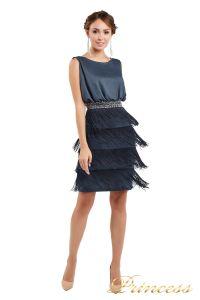 Коктейльное платье 1147 dark gray. Цвет стальной. Вид 3