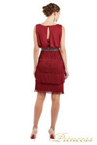 Коктейльное платье 1147 red. Цвет красный. Вид 3