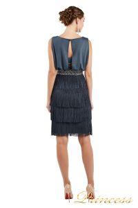 Коктейльное платье 1147 dark gray. Цвет стальной. Вид 4