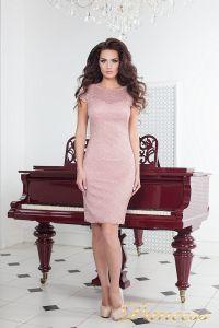 Коктейльное платье 1745 pink. Цвет розовый. Вид 1