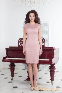 Коктейльное платье 1745 pink. Цвет розовый. Вид 2