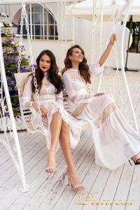 Вечернее платье NF-19033-white. Цвет белый. Вид 6