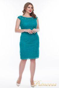 Вечернее платье 1198_teal. Цвет зеленый. Вид 1