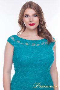 Вечернее платье 1198_teal. Цвет зеленый. Вид 2