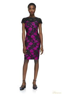 Вечернее платье Tadashi shoji AYT1812MA BLACK FUSCHIA. Цвет розовый. Вид 1