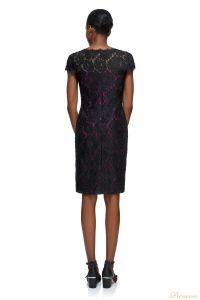 Вечернее платье Tadashi shoji AYT1812MA BLACK FUSCHIA. Цвет розовый. Вид 2