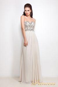 Вечернее платье 12004. Цвет серый. Вид 2