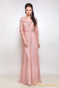 Вечернее платье 12008. Цвет розовый. Вид 1