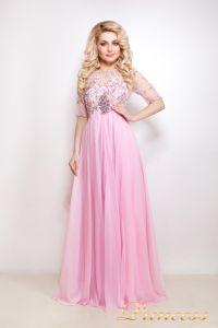 Вечернее платье 12009. Цвет розовый. Вид 1