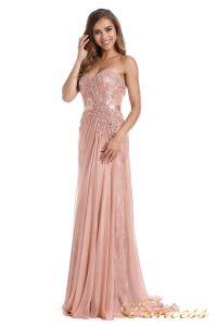 Вечернее платье 12012. Цвет розовый. Вид 2