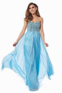 Вечернее платье 12013B. Цвет голубой. Вид 6
