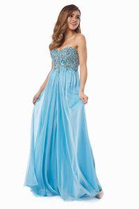 Вечернее платье 12013B. Цвет голубой. Вид 2