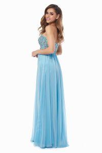 Вечернее платье 12013B. Цвет голубой. Вид 4