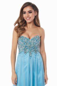 Вечернее платье 12013B. Цвет голубой. Вид 3