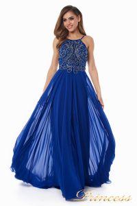 Вечернее платье 12014R. Цвет электрик . Вид 2