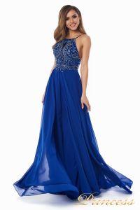 Вечернее платье 12014R. Цвет электрик . Вид 3