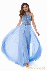 Вечернее платье 12014B. Цвет голубой. Вид 3