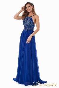 Вечернее платье 12014R. Цвет электрик . Вид 4