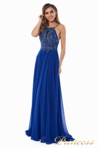 Вечернее платье 12014R. Цвет электрик . Вид 1