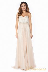 вечернее платье 12015-2 nude new . Цвет белый. Вид 3