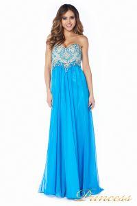 Вечернее платье 12015B. Цвет голубой. Вид 2