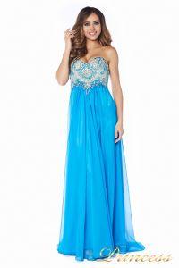 Вечернее платье 12015B. Цвет голубой. Вид 4