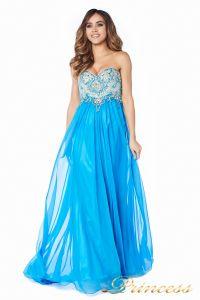 Вечернее платье 12015B. Цвет голубой. Вид 3