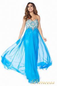 Вечернее платье 12015B. Цвет голубой. Вид 1