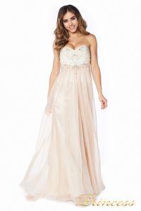 Вечернее платье 12015N. Цвет шампань. Вид 1