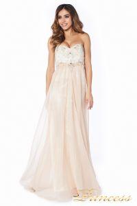 вечернее платье 12015-2 nude new . Цвет белый. Вид 2