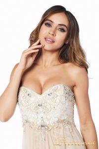 вечернее платье 12015-2 nude new . Цвет белый. Вид 1