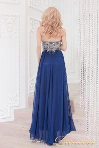 Вечернее платье 12015M. Цвет синий. Вид 2
