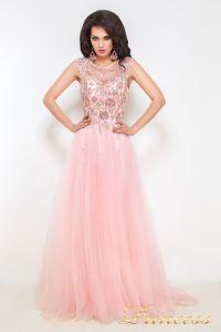 Вечернее платье 12020. Цвет розовый. Вид 1