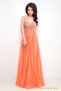 Вечернее платье 12022. Цвет оранжевый. Вид 1