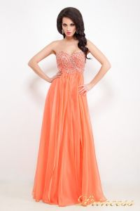 Вечернее платье 12022. Цвет оранжевый. Вид 2