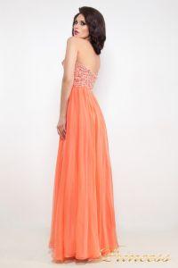 Вечернее платье 12022. Цвет оранжевый. Вид 3