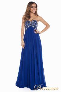 Вечернее платье 12024. Цвет электрик . Вид 3