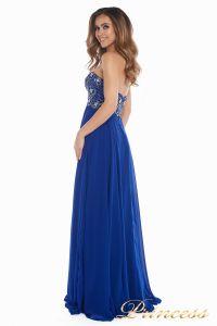Вечернее платье 12024. Цвет электрик . Вид 4