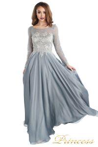 Вечернее платье 20245-171 gray. Цвет стальной. Вид 1